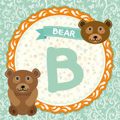 B is bear. — Vector de stock