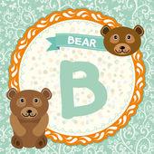 B is bear. — Vector de stock