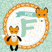F is fox. — Stock Vector