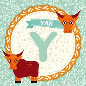 Y is yak. — Stock Vector