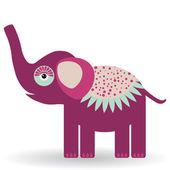 Elefante divertido — Vector de stock