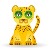 Funny jaguar — Stock Vector