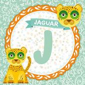 J is jaguar. — Stock Vector