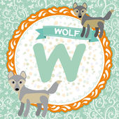 W is wolf. — Stock Vector