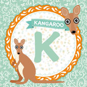 K is kangaroo — Stock Vector