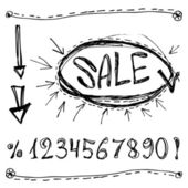 Sale numbers with arrows. — Stock Vector
