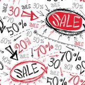 Sale seamless pattern. — Stock Vector