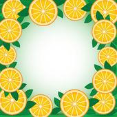 橙色与绿色的树叶 — 图库矢量图片