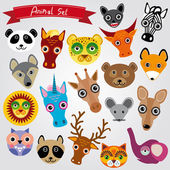 Animals muzzles — Vector de stock