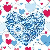 Wesele wzór z serca — Wektor stockowy