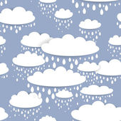 White clouds — Stock Vector
