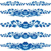 Blue floral design elements — Stock Vector