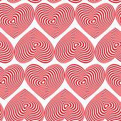 Red Heart Striped pattern — Wektor stockowy