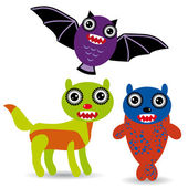 Cute cartoon Monsters — Stock Vector
