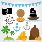 Marine Pirate set — Stockvector