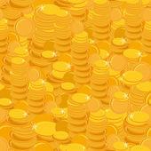 Golden coins pattern. — Stock Vector