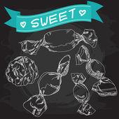 Sweet candies — Stock Vector
