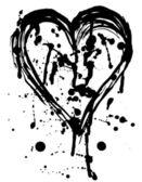 Grunge bright heart. — Stock Vector