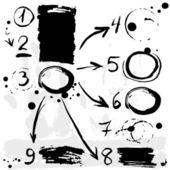 Brush strokes infographic banner. — Stock Vector