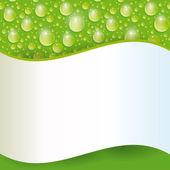 Krople wody. — Wektor stockowy