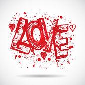 Love Grunge background — Stock Vector