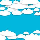 Fondo de nubes blancas — Vector de stock