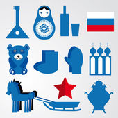 Russian icons Travel set — Stock Vector