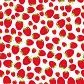 Patrones sin fisuras las fresas — Vector de stock