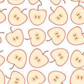 Patrones sin fisuras las manzanas — Vector de stock