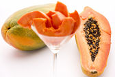 Full of nutrients and papain - the Papaya — Stock Photo