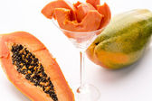 Yellow, orange and green - the Papaya fruit — Stock Photo