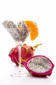 Wedges of a pitaya in a glass — Stock Photo