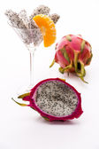 Longitudinal section of a Pitaya — Stock Photo