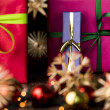 Presents, ribbons, twinkles and stars — Stock Photo #50151317
