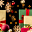 Xmas Presents under Baubles, Twinkles and Stars — Stock Photo #51244889