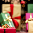 Xmas Gifts, Glitters and Stars — Stock Photo #51245689