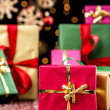 Christmas Background with Gifts and Glitters — Stock Photo #51245893
