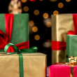 Xmas Presents Between Baubles and Twinkles — Stock Photo #51247621