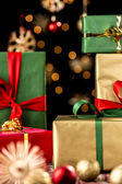 Xmas Gifts, Baubles and Stars — Stock Photo