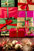 Piled-Up Xmas Presents — Stock Photo