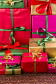 Towering Stack of Gifts — Stock Photo