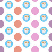 Vector cupcake pattern — Vettoriale Stock