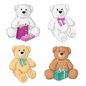 Teddy bears — Vettoriale Stock