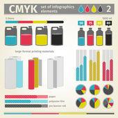 Infographic CMYK vector — Stock Vector