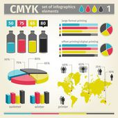 Infographic CMYK vector. — Stock Vector