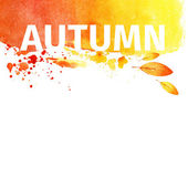 Autumn grunge watercolor background. illustration — Stock Photo