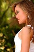 Brunette Professional Model — Stock Photo