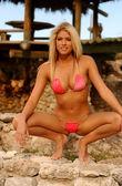 Pink String Bikini - Model Barbie Blank — Stock Photo
