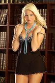Deana Durbin - Professional Model - Playful Blond — Stockfoto
