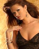 Black Lace Lingerie - Several Views — Stock Photo